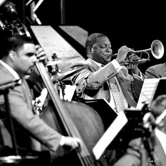 Carlos Henriquez et Wynton Marsalis, Getxo Jazz 2013 © Jose Horna
