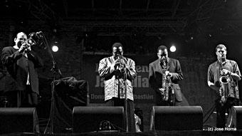 Steve Turre, Wallace roney, Donald Harrison, Eric Alexander : San Sebastian 2006 © Jose Horna